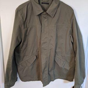 Theory army green men's jacket XL